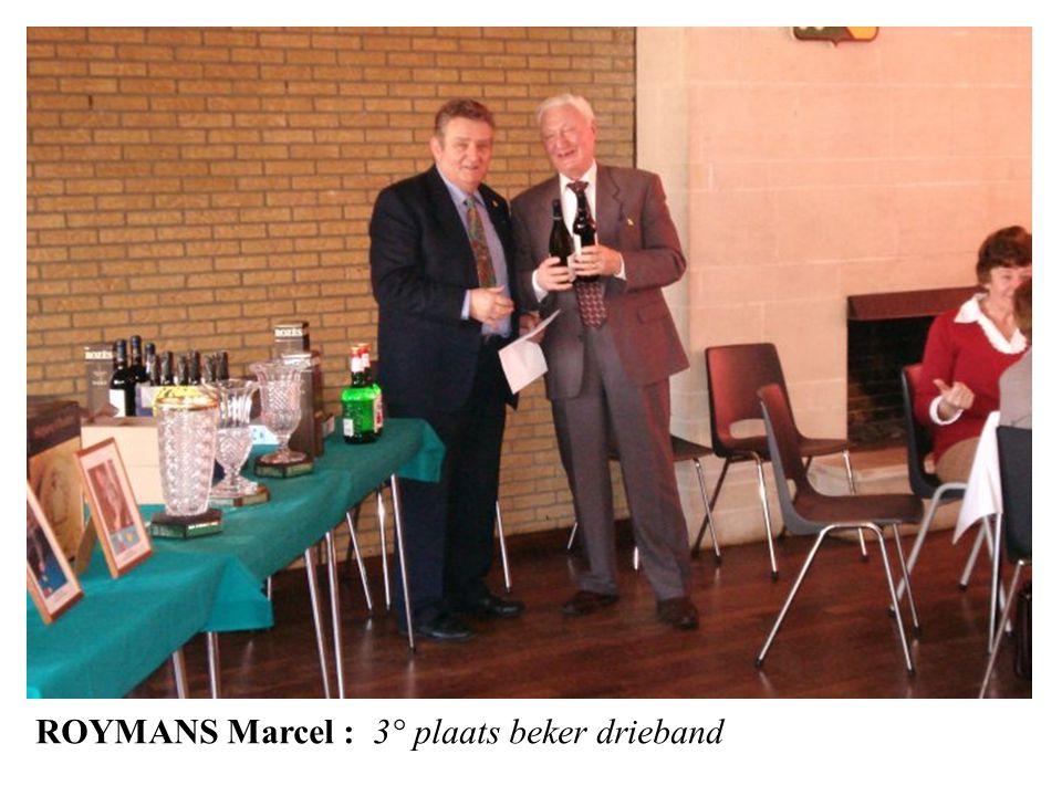 ROYMANS Marcel : 3° plaats beker drieband