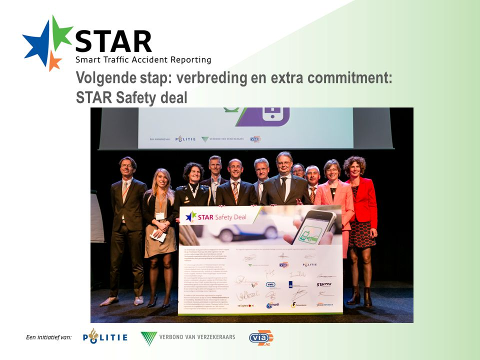 Volgende stap: verbreding en extra commitment: STAR Safety deal