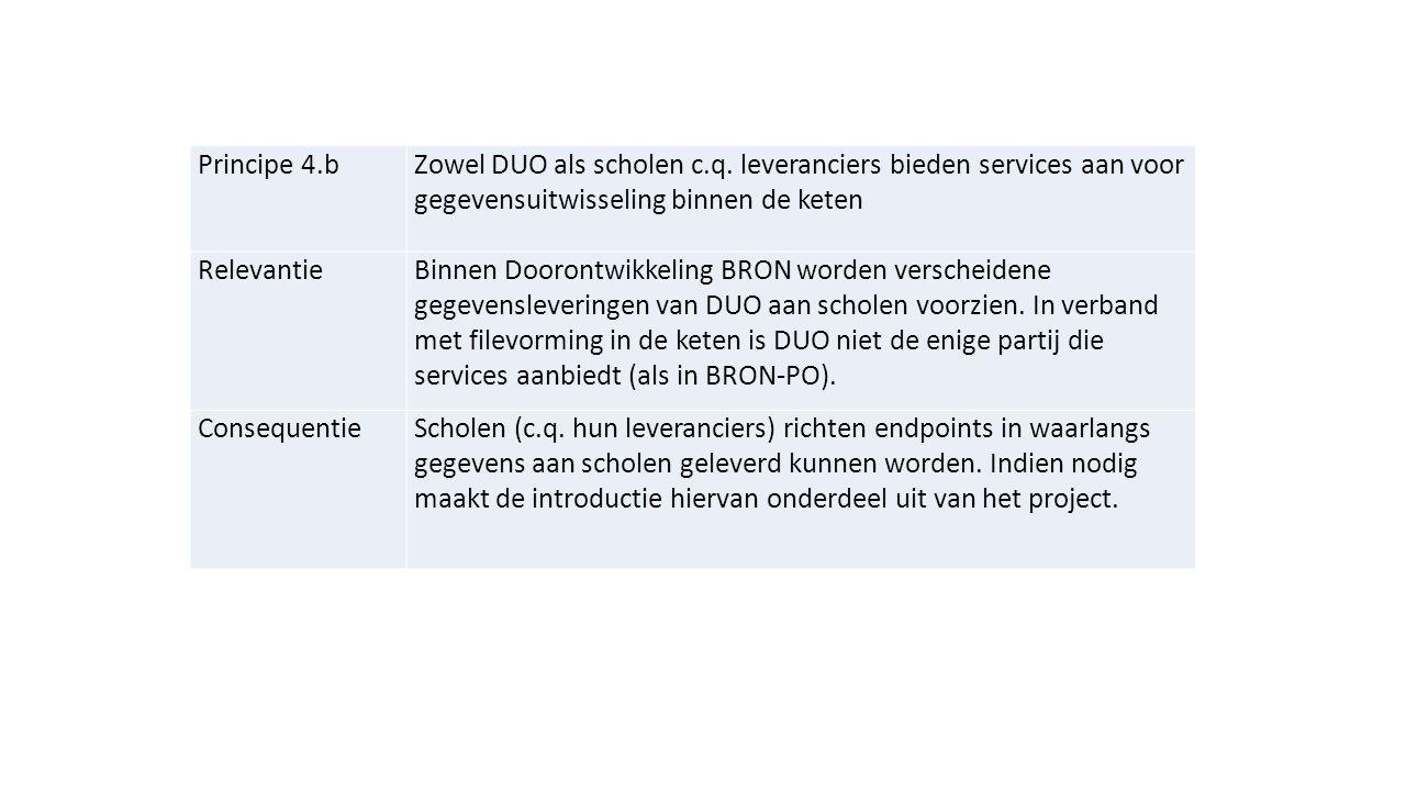 Principe 4.bZowel DUO als scholen c.q.