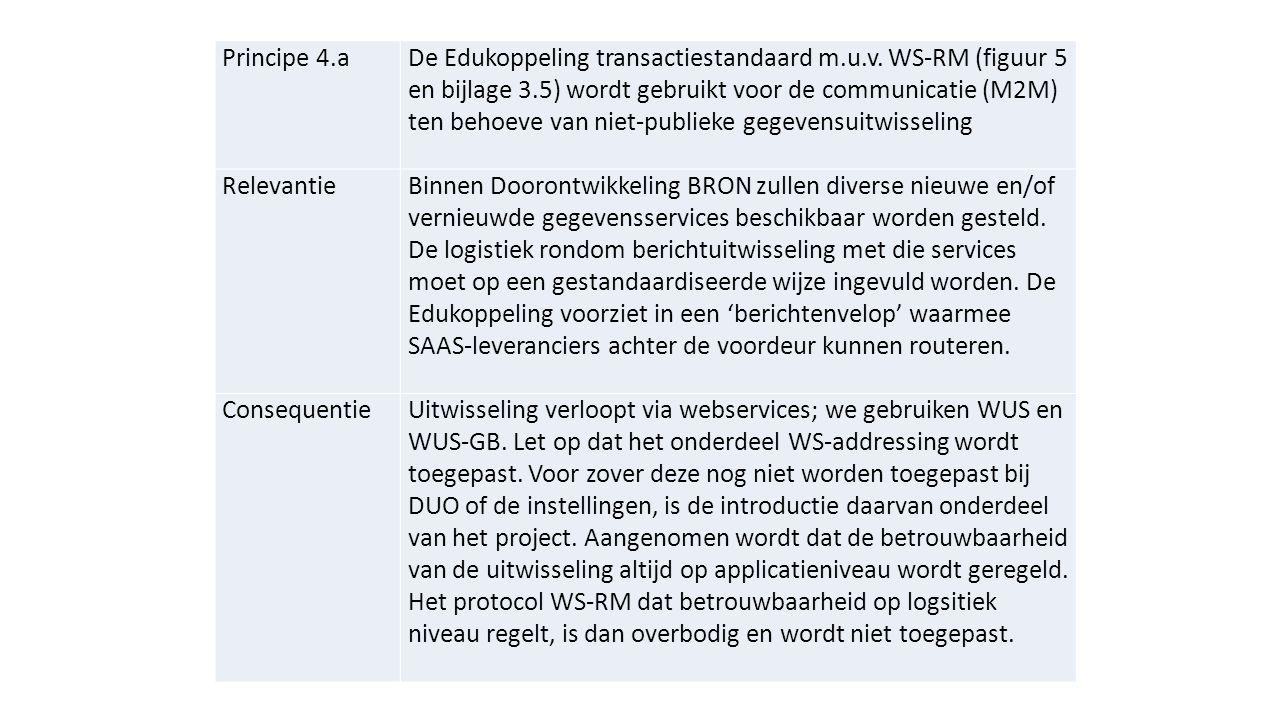 Principe 4.aDe Edukoppeling transactiestandaard m.u.v.