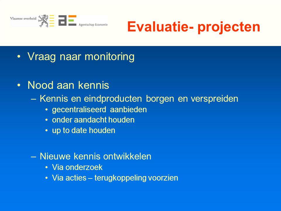 Kerngroep en vertegenwoordigers lokale besturen VVSG 2 lokale besturen –1 e fase: uit EFRO projecten –2 e fase (na beslissing projecten): Vertegenwoordiging nog voldoende representatief?
