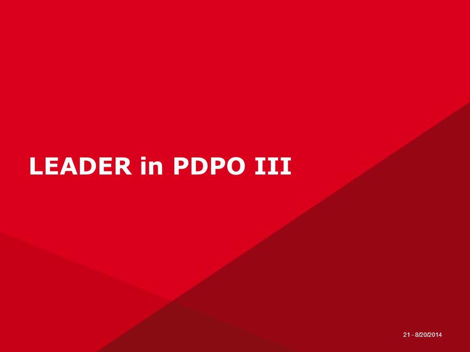 21 - 8/20/2014 LEADER in PDPO III