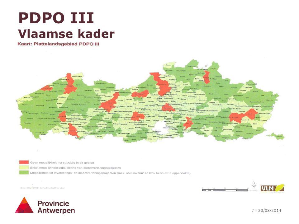 7 - 20/08/2014 PDPO III Vlaamse kader
