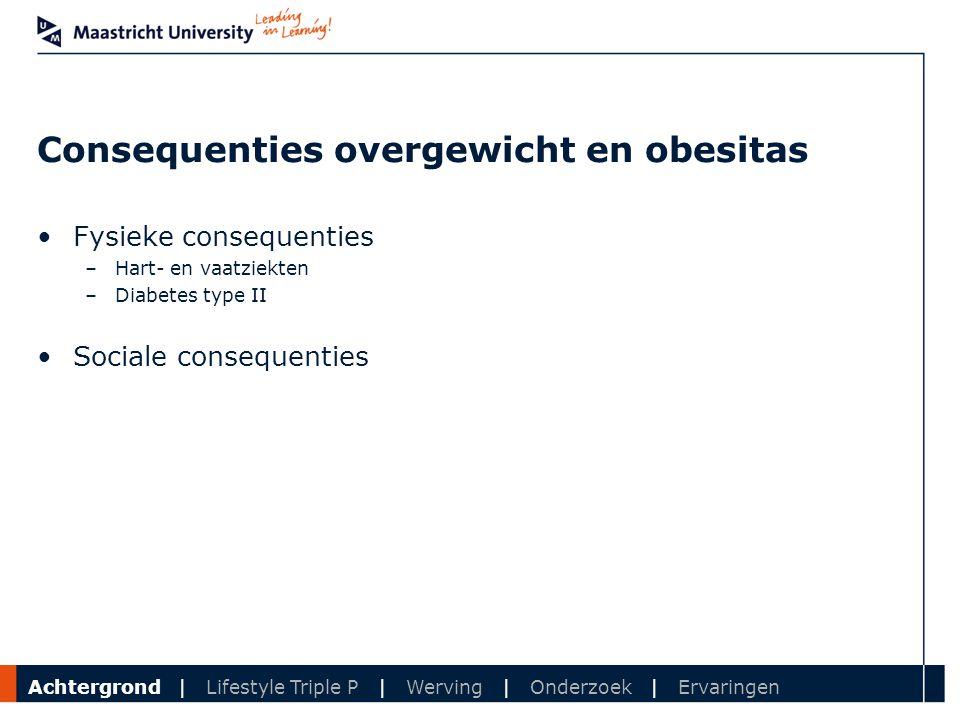 Department Consequenties overgewicht en obesitas Fysieke consequenties –Hart- en vaatziekten –Diabetes type II Sociale consequenties Achtergrond | Lif