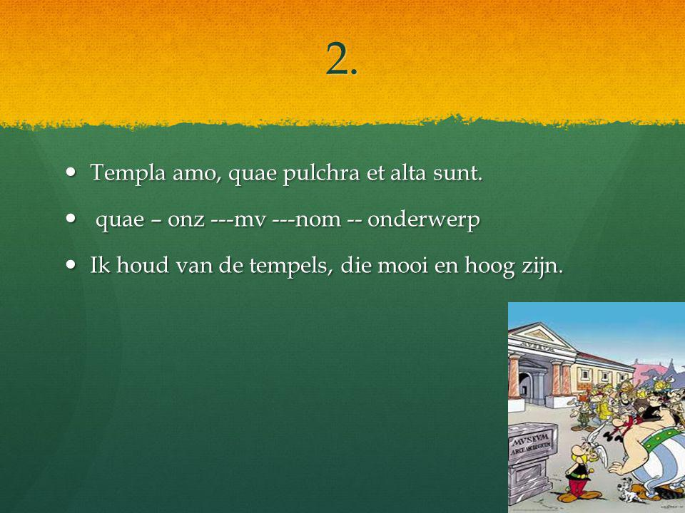2. Templa amo, quae pulchra et alta sunt. Templa amo, quae pulchra et alta sunt.