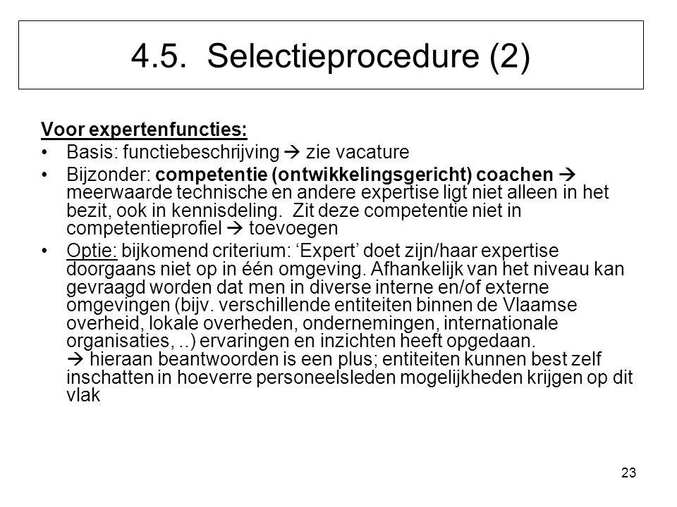 23 Voor expertenfuncties: Basis: functiebeschrijving  zie vacature Bijzonder: competentie (ontwikkelingsgericht) coachen  meerwaarde technische en a