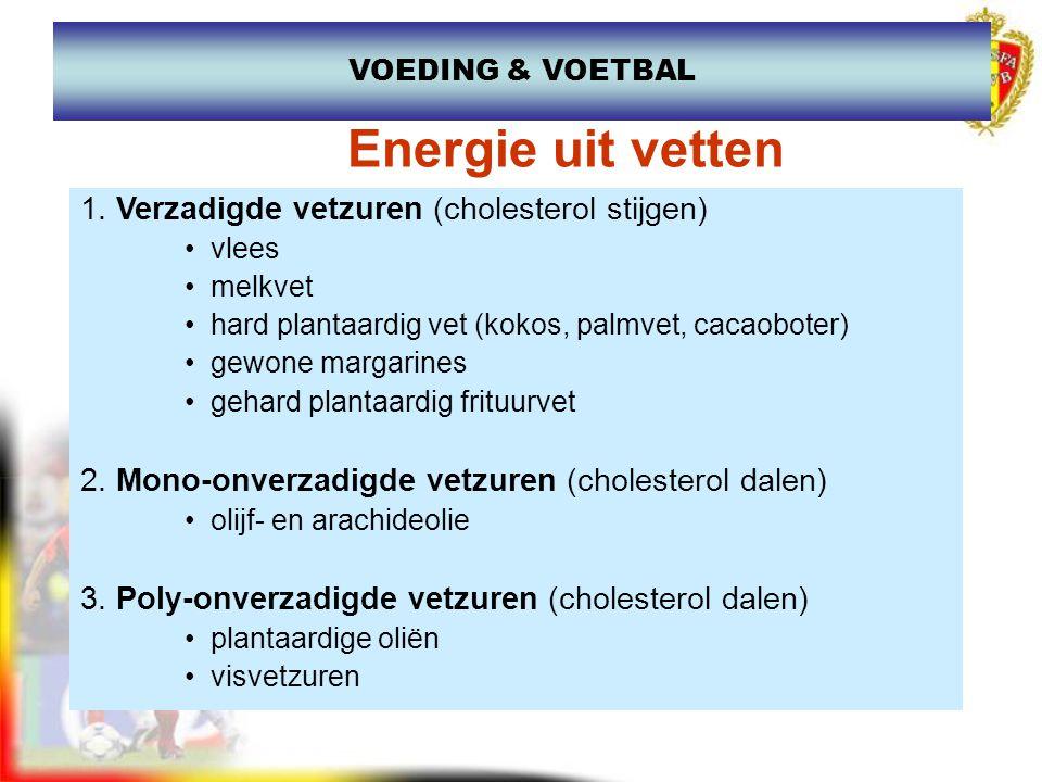 1. Verzadigde vetzuren (cholesterol stijgen) vlees melkvet hard plantaardig vet (kokos, palmvet, cacaoboter) gewone margarines gehard plantaardig frit