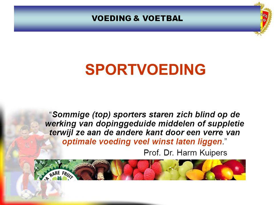 """""""Sommige (top) sporters staren zich blind op de werking van dopinggeduide middelen of suppletie terwijl ze aan de andere kant door een verre van optim"""