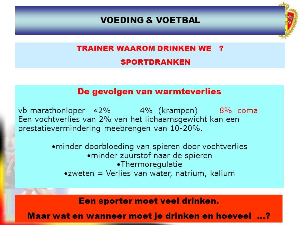 www.joostdesender.be TRAINER WAAROM DRINKEN WE ? SPORTDRANKEN Een sporter moet veel drinken. Maar wat en wanneer moet je drinken en hoeveel...? De gev