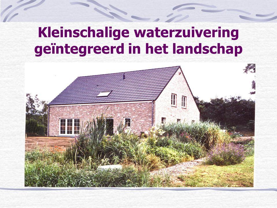 Kleinschalige waterzuivering geïntegreerd in het landschap
