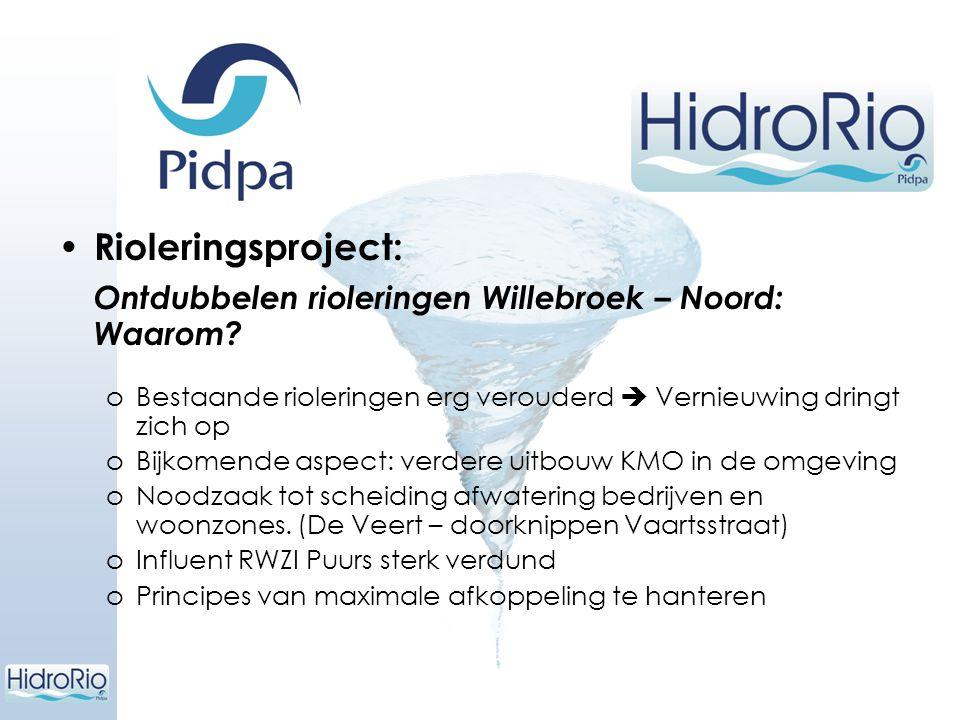 Rioleringsproject: Ontdubbelen rioleringen Willebroek – Noord: Waarom? oBestaande rioleringen erg verouderd  Vernieuwing dringt zich op oBijkomende a