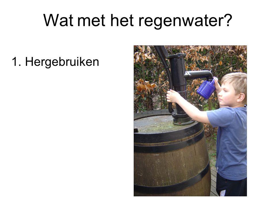 Wat met het regenwater? 1.Hergebruiken