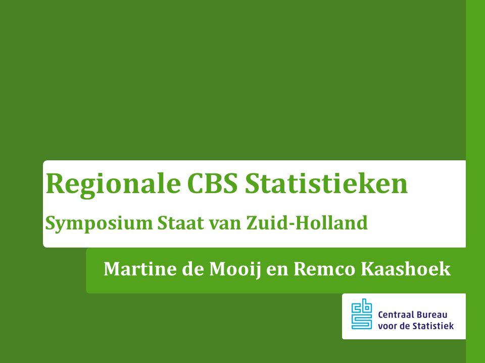 Martine de Mooij en Remco Kaashoek Regionale CBS Statistieken Symposium Staat van Zuid-Holland