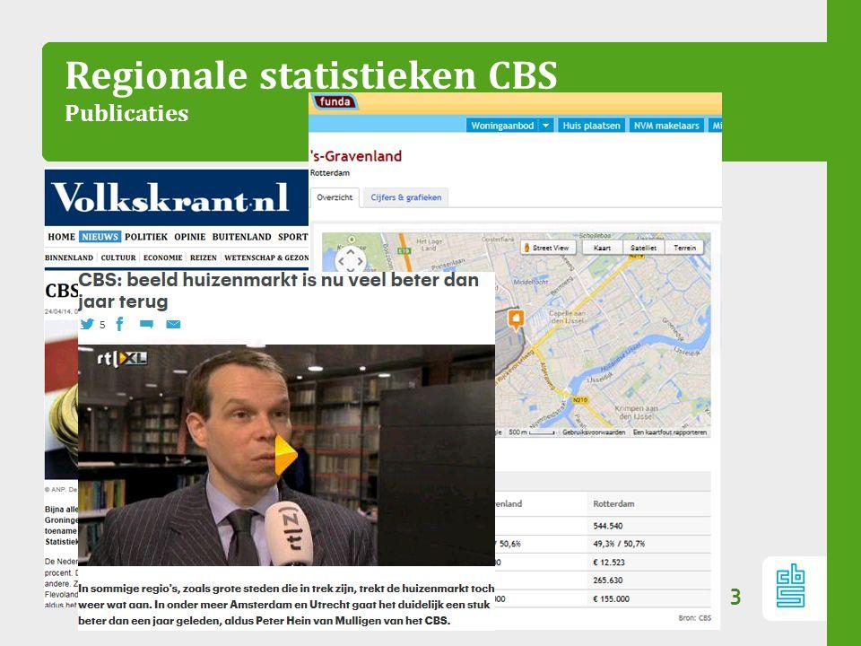 Regionale statistieken CBS Publicaties 3