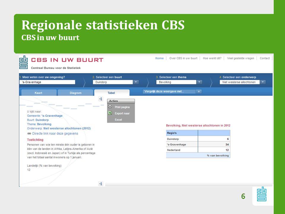 Regionale statistieken CBS CBS in uw buurt 6