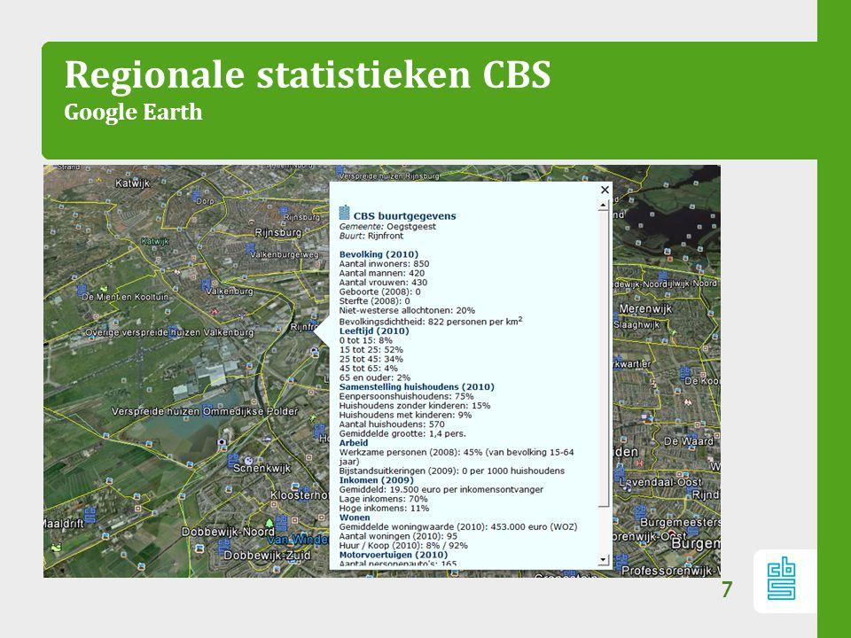 Maatwerk onderzoek Waarom? 8 Meer mogelijk dan wat het CBS vanuit werkprogramma publiceert