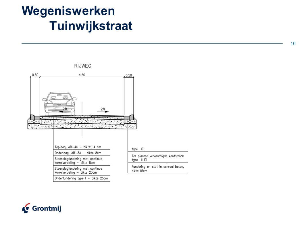 16 Wegeniswerken Tuinwijkstraat