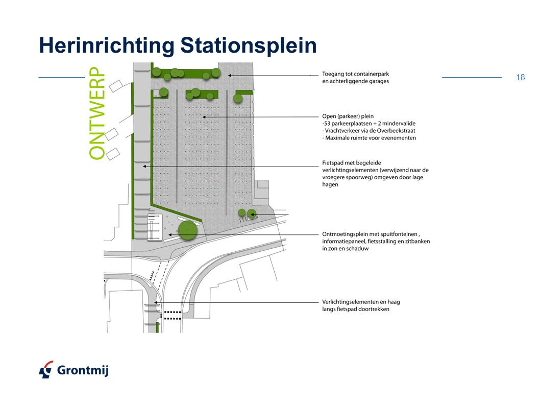 Herinrichting Stationsplein 18