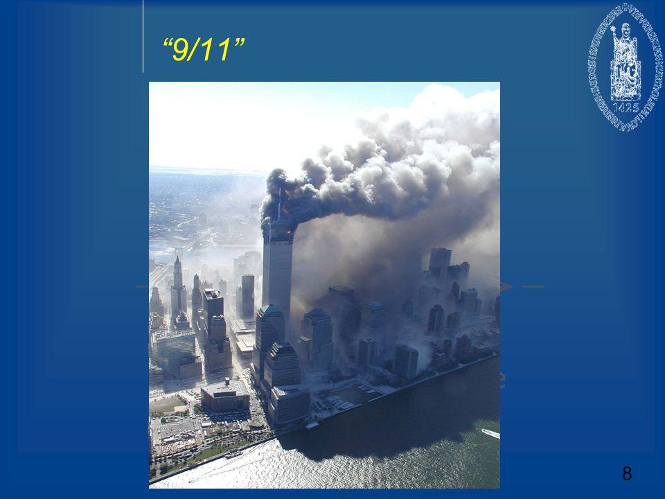 Faze III: Post- 9/11  Wereldwijde aard van de nieuwe bedreigingen ( Dark side van globalisering)  Belangrijkste bedreigingen komen van buiten Europa  Bedreigingen vergen een actieve inzet 9