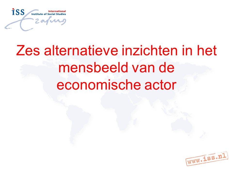 Zes alternatieve inzichten in het mensbeeld van de economische actor