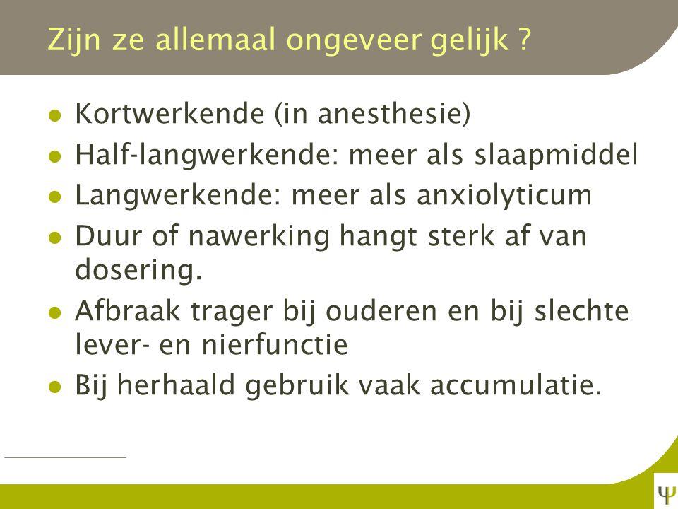 Indicaties Angst (te nuanceren) Spanning, opwinding, stress (te nuanceren) Slapeloosheid (te nuanceren) Spasticiteit, dystonie, myoclonieën. Epilepsie