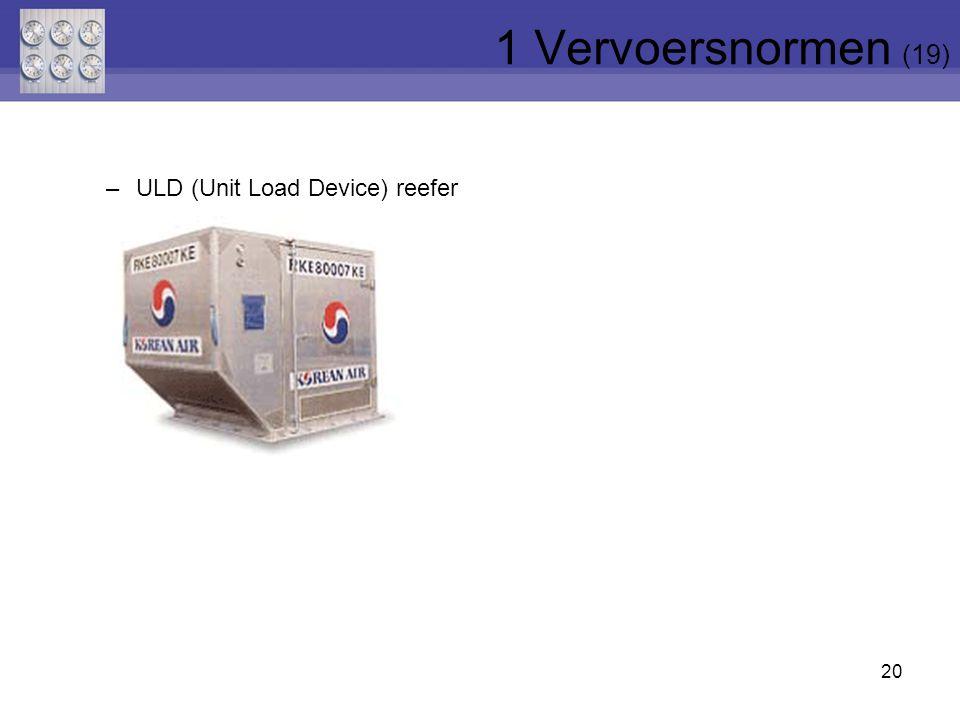 20 –ULD (Unit Load Device) reefer 1 Vervoersnormen (19)