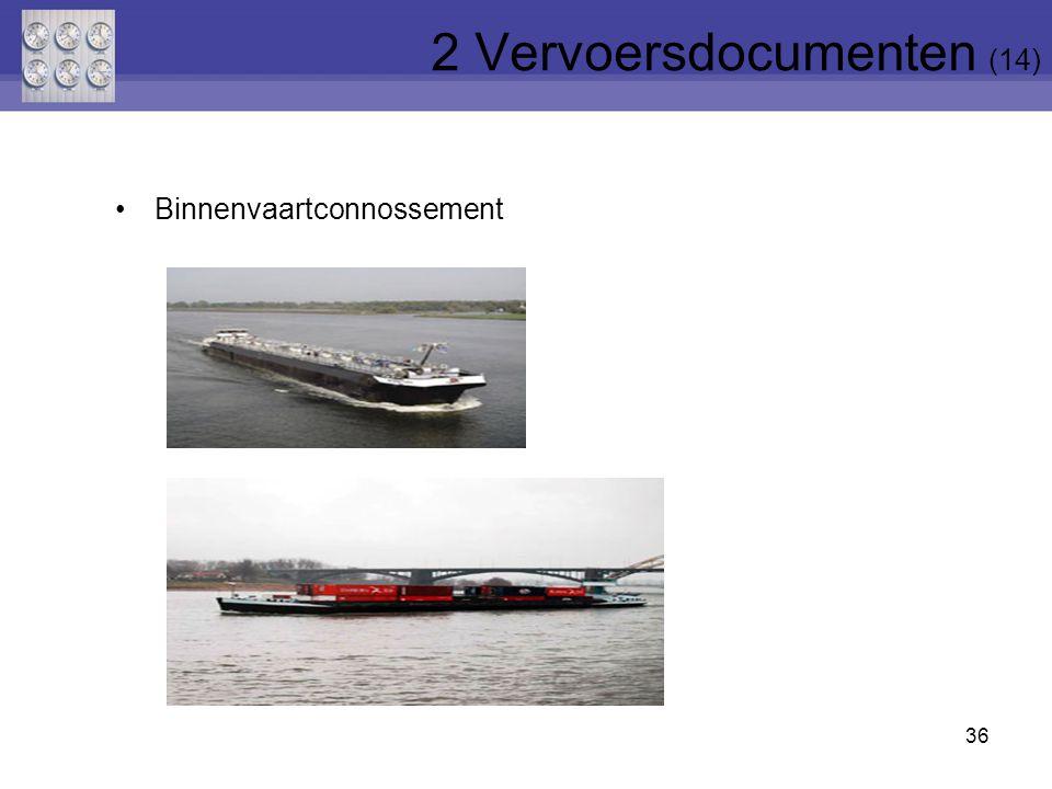 36 Binnenvaartconnossement 2 Vervoersdocumenten (14)