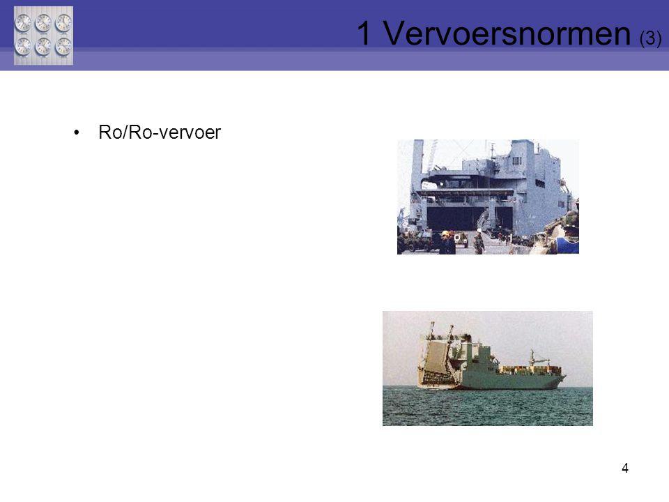 4 Ro/Ro-vervoer 1 Vervoersnormen (3)