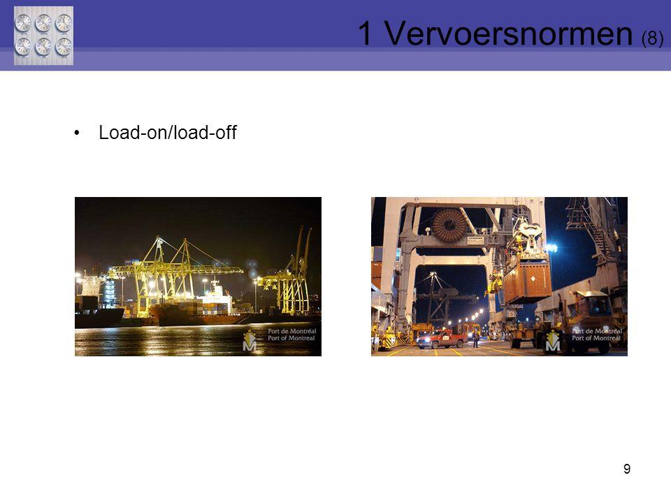 9 Load-on/load-off 1 Vervoersnormen (8)