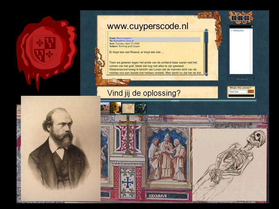 www.cuyperscode.nl XIIXMMVII Vind jij de oplossing
