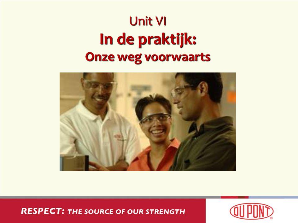 Unit VI In de praktijk: Onze weg voorwaarts