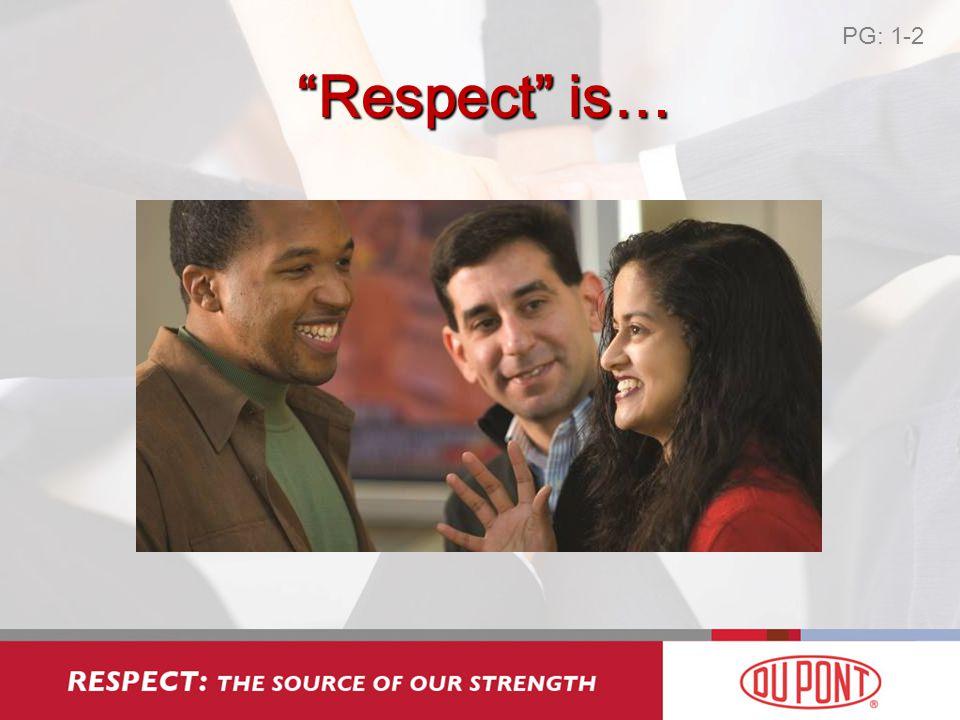 Respect ≠ Tolerantie PG: 1-3