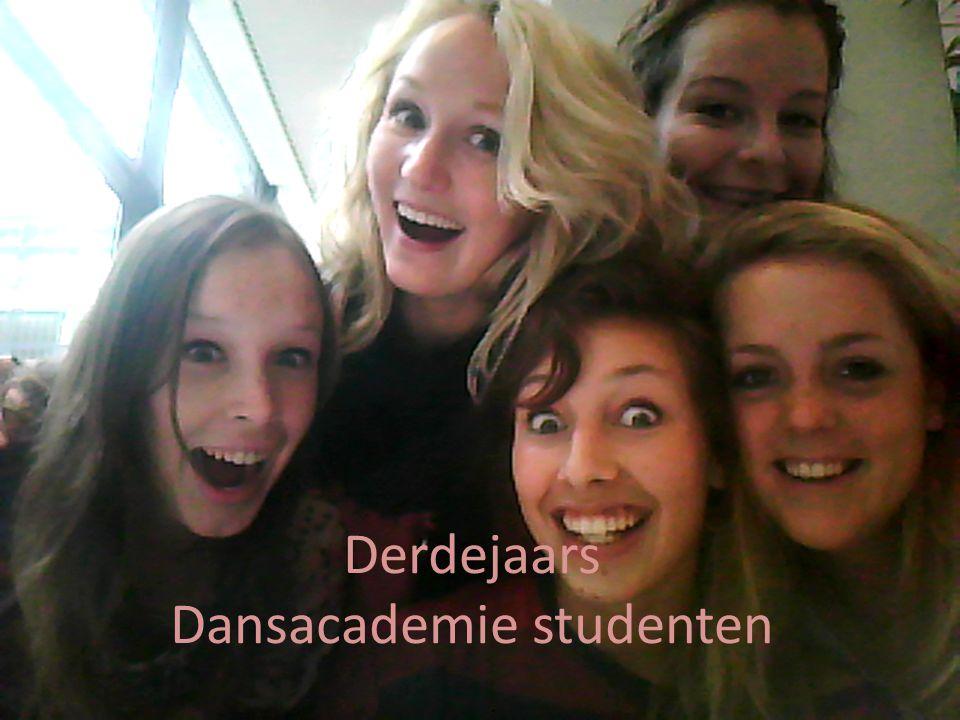 Derdejaars Dansacademie studenten
