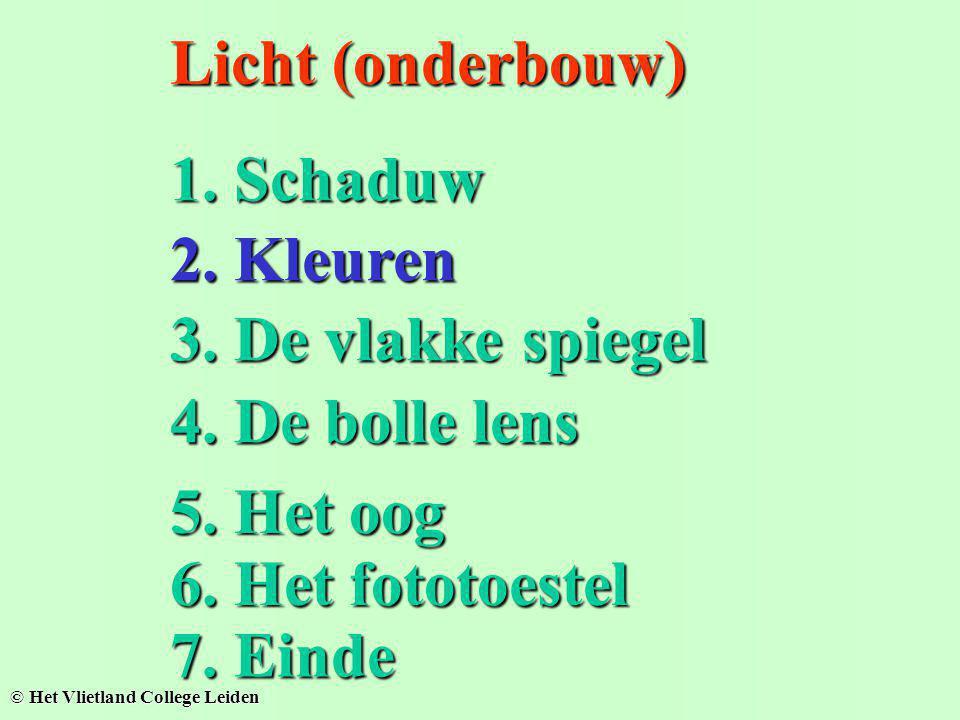 Welke lamp kan hier schijnen??? Schaduw van twee gekleurde lichtbronnen L1L1L1L1 L2L2L2L2 Welke lamp kan hier schijnen???