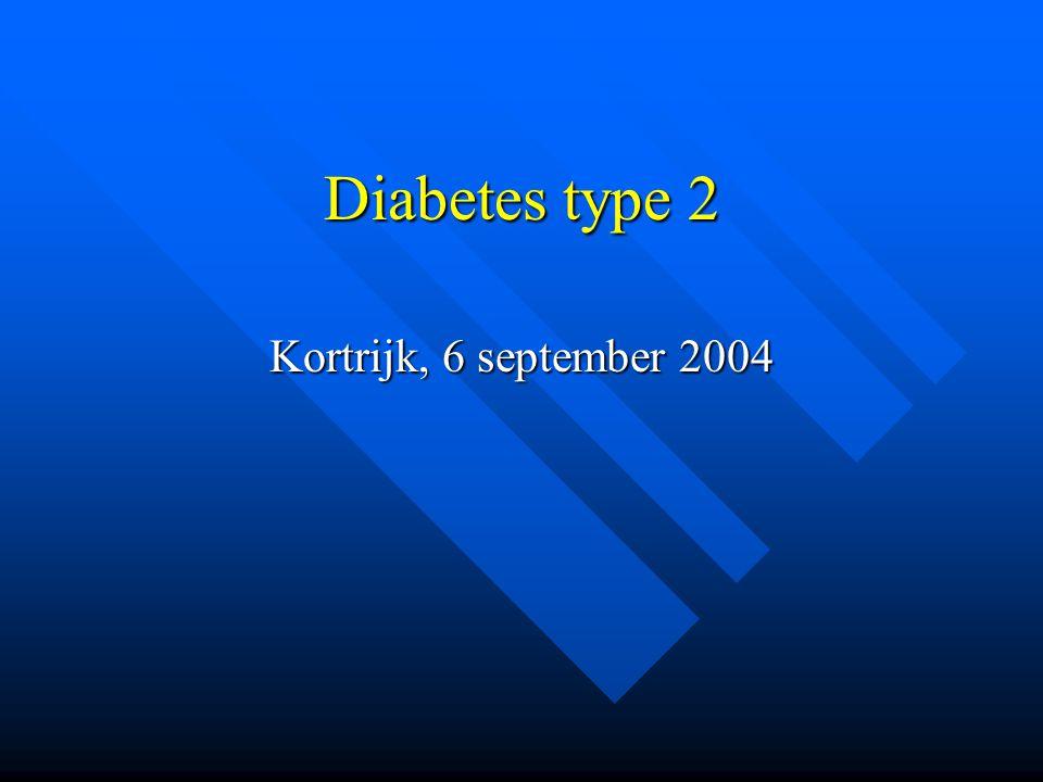 Diabetes type 2 Kortrijk, 6 september 2004