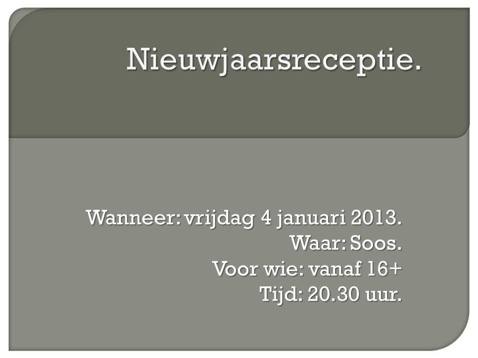 2013 Verwachtingen?