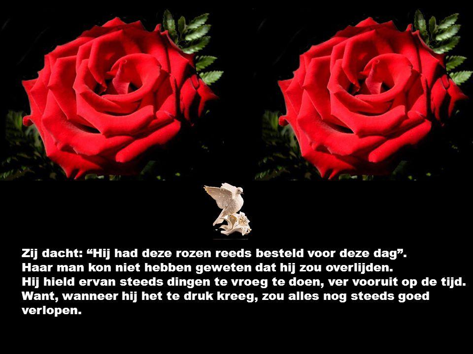 """Elk jaar had hij haar rozen gestuurd, en het briefje zegde steeds, """"Ik hou nog meer van jou dit jaar, dan vorig jaar op deze dag, """"Mijn liefde voor jo"""