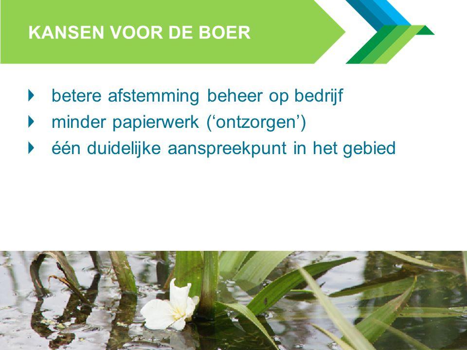 STICHTING COLLECTIEF AGRARISCH NATUURBEHEER KANSEN VOOR SAMENWERKING Met terreinbeheerders e.a.