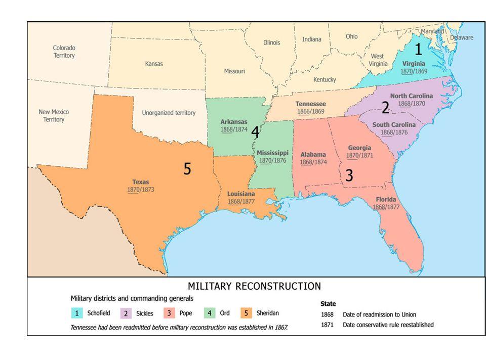 1877: President Hayes besluit tot terugtrekking federale troepen – tegenstanders gelijke behandeling zwarten aan de macht in het zuiden.
