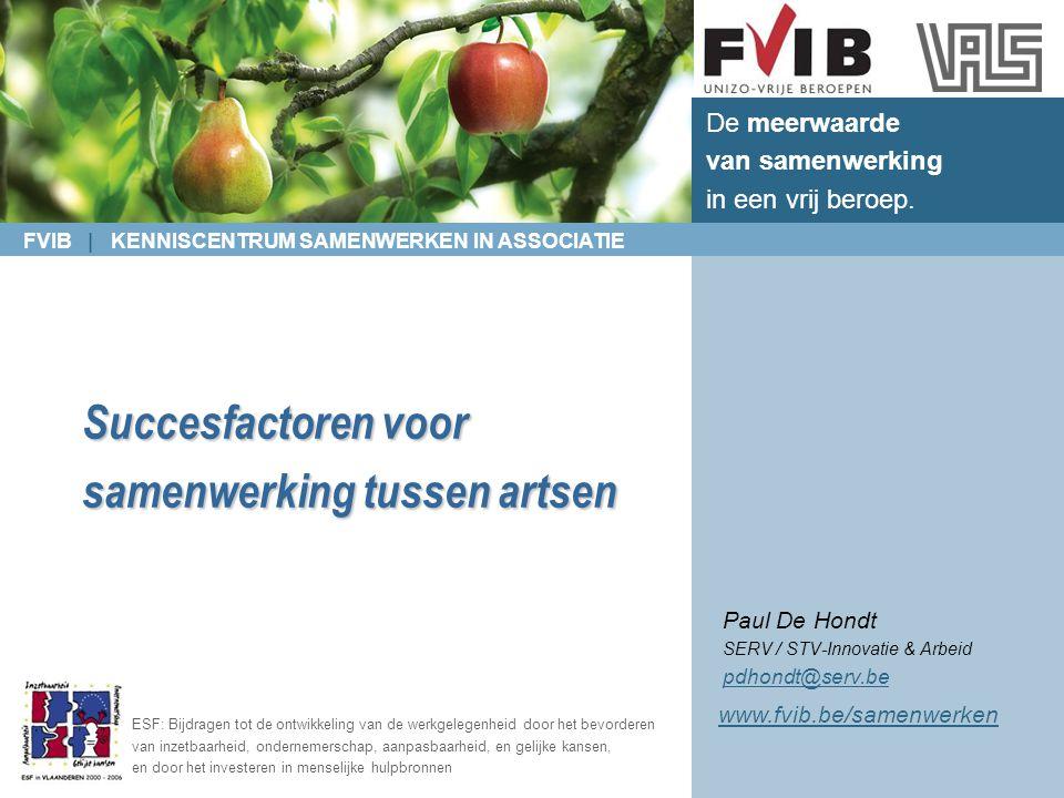 FVIB | KENNISCENTRUM SAMENWERKEN IN ASSOCIATIE VLAAMS ARTSENSYNDICAAT 2.