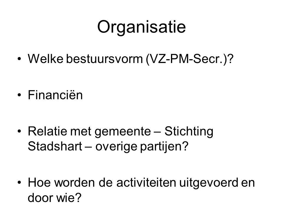 Organisatie Welke bestuursvorm (VZ-PM-Secr.).