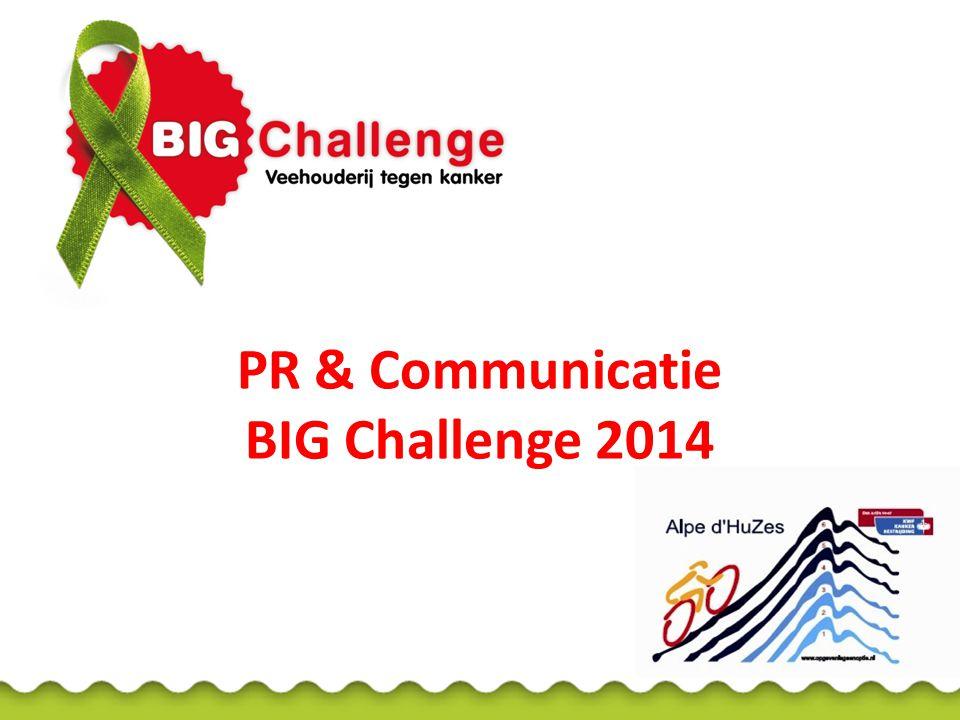 BIG Challenge 152 deelnemers uit de veehouderij die samen fietsen en strijden tegen kanker en samen streven naar 1 miljoen euro...
