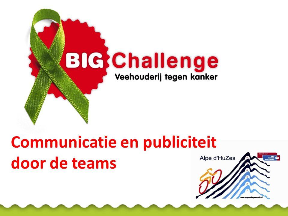 BIG Challenge-activiteiten Benefietdiners Benefietfeesten Biggenraces Spinningmarathon Open dagen Andere sponsoractiviteiten Vraag aan de teams: Voor wie organiseer je dit.