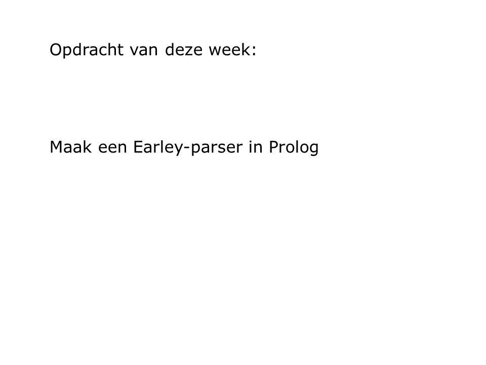 Opdracht van deze week: Maak een Earley-parser in Prolog