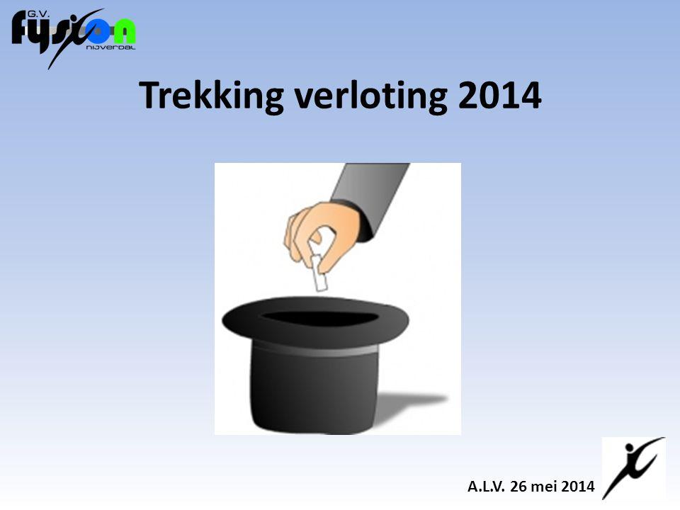 Trekking verloting 2014 A.L.V. 26 mei 2014