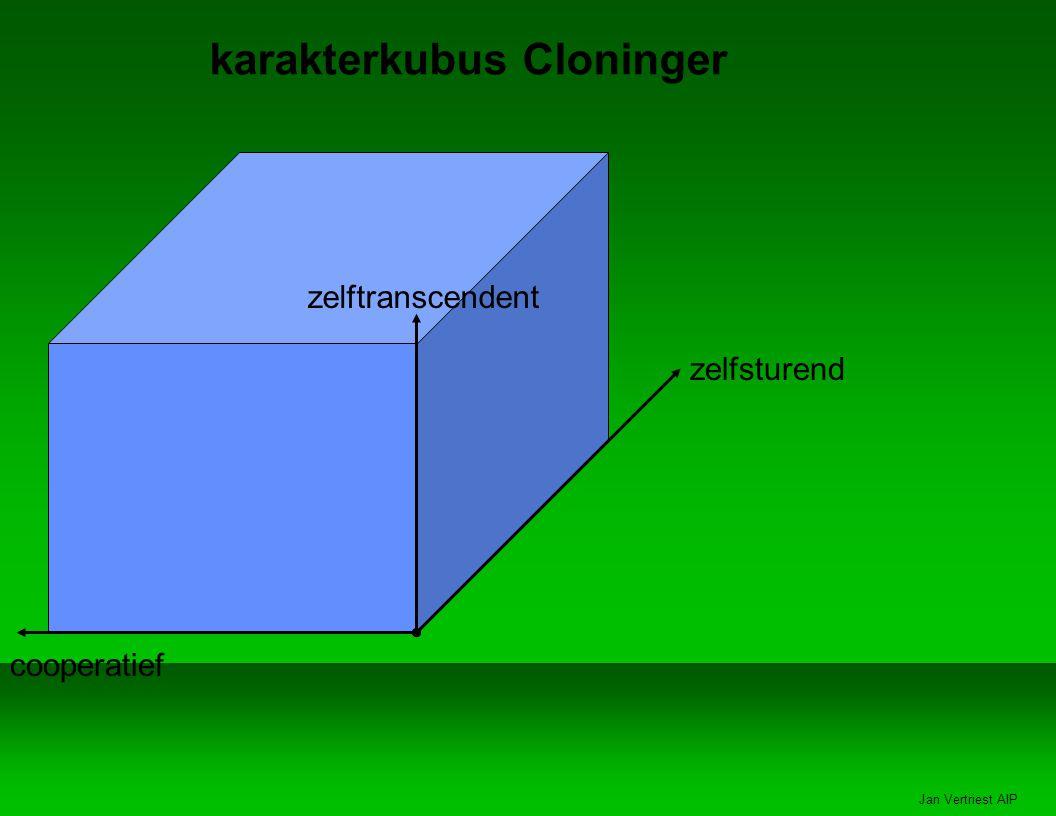 Jan Vertriest AIP karakterkubus Cloninger zelftranscendent zelfsturend cooperatief