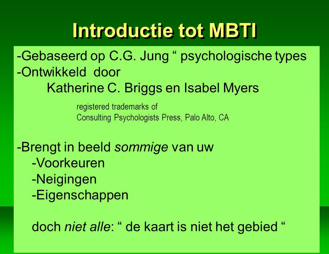 Jan Vertriest AIP Introductie tot MBTI -Gebaseerd op C.G.