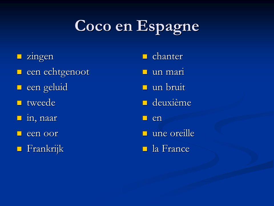 Coco en Espagne zingen zingen een echtgenoot een echtgenoot een geluid een geluid tweede tweede in, naar in, naar een oor een oor Frankrijk Frankrijk chanter un mari un bruit deuxième en une oreille la France