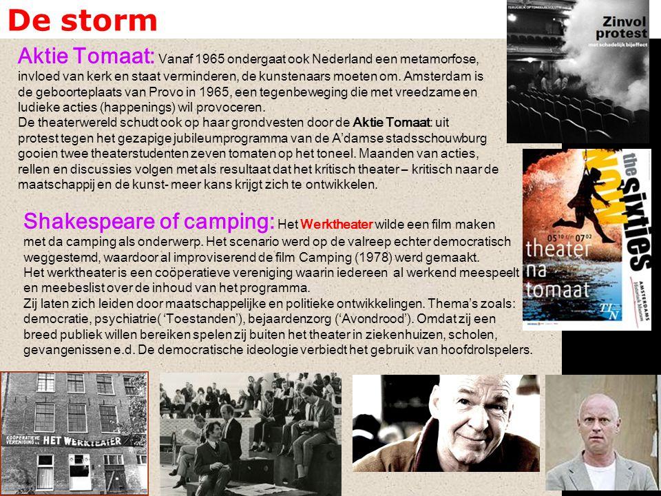 De storm Aktie Tomaat: Vanaf 1965 ondergaat ook Nederland een metamorfose, invloed van kerk en staat verminderen, de kunstenaars moeten om. Amsterdam