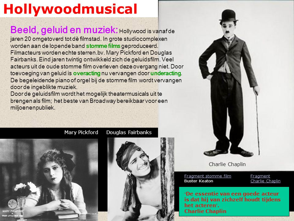 Hollywoodmusical Fragment Singin ' in the Rain Singin'and dancin': De musical is typisch een Am.